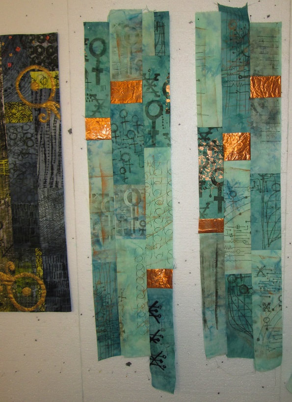 The beginnings of a copper quilt by Claire Passmore