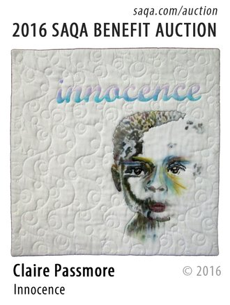 'Innocence' art quilt by Claire Passmore