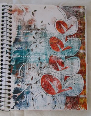 Autumn leaf sketchbook by Claire Passmore